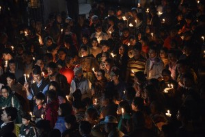 Candle light procession in Diang Pilgrimage