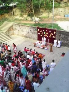 Mass in Diang Parish on Pohela Boishakh 1423