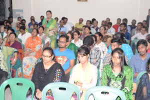 A participant is reflecting in the 89th Founding Anniversary of Chittagong Diocese