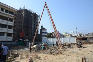 Piling works bishop's house, Chittagong